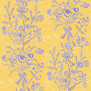 Modern Chintz Yellow