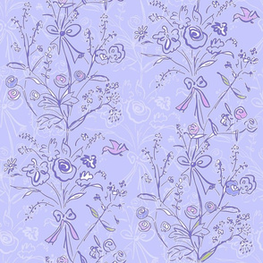 Modern Chintz Blue