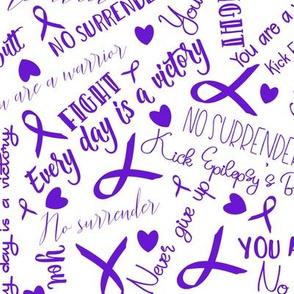 kick epilepsys butt - fighting words purple