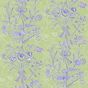 Modern Chintz Grass