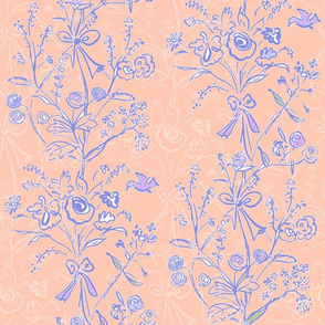 Modern Chintz Peach