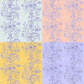 Modern Chintz Patchwork Quilt