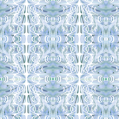Ornamental No 2 Pastel blue - Tea towel