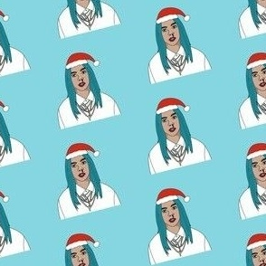 billie christmas - christmas, pop music, - blue