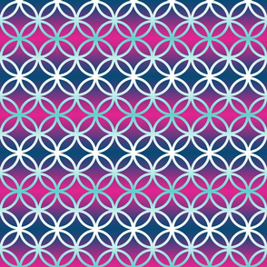 Blue Magenta Breeze Block Ombre