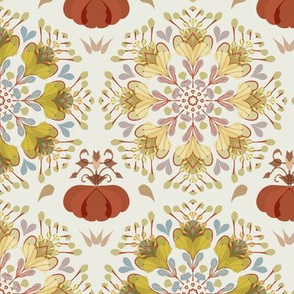 autumn flower pattern 1