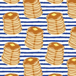 Pancake stacks - blue stripes  - LAD19