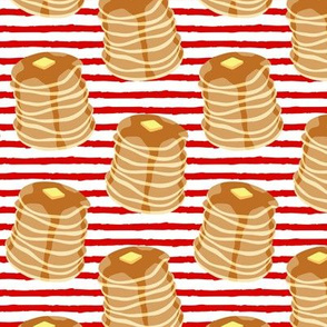 Pancake stacks - red stripes  - LAD19