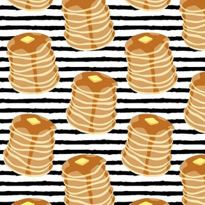 Pancake stacks - black stripes  - LAD19