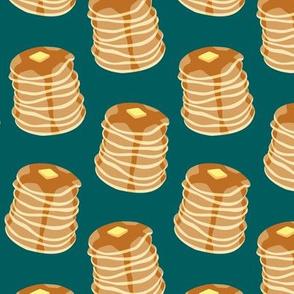 Pancake stacks - teal  - LAD19