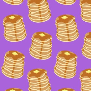 Pancake stacks - bright purple  - LAD19