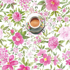 Tea Room Tablecloth in Soft Pink
