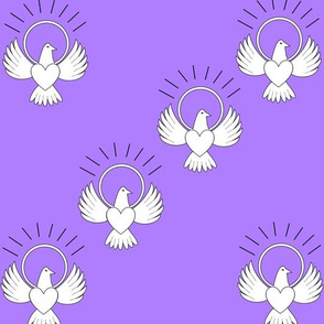FreeBird Multi Print Purple Background