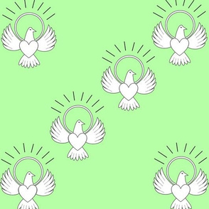 FreeBird Multi Print Green Background