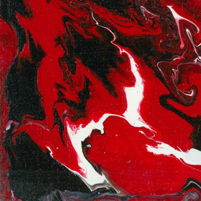 Blood Lines Red and Black Fluid Pour