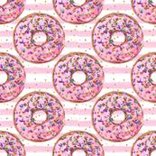 Donuts sprinkles pink gold stripe