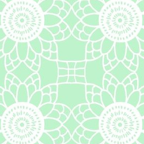 Doily - mint green