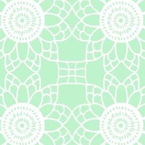 Doily - mint green