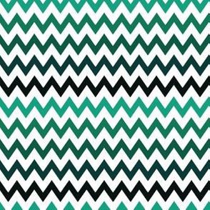 Chevron green and white