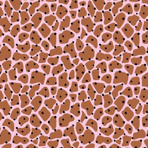 Trendy minimal animal print abstract giraffe spots and dots winter pink rust copper brown