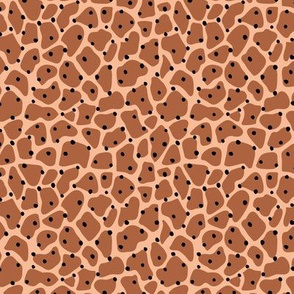 Trendy minimal animal print abstract giraffe spots and dots winter autumn cinnamon ginger brown