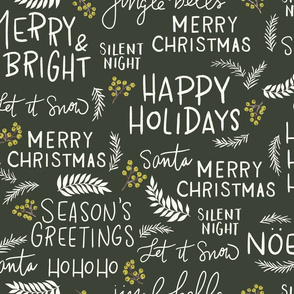 Christmas Greetings Dark