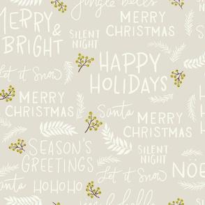 Christmas Greetings Cream