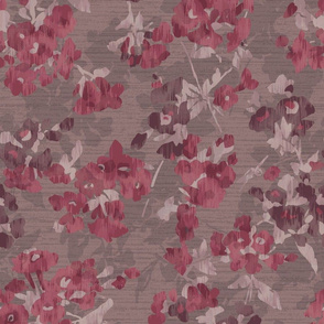 Berry and Taupe Abstract Floral