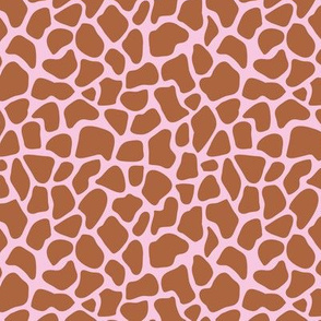 Trendy minimal safari animal print abstract giraffe wild life spots winter autumn copper rust pink