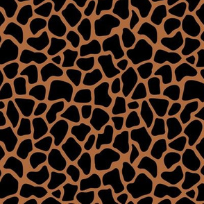 Trendy minimal safari animal print abstract giraffe wild life spots winter autumn monochrome black rust brown
