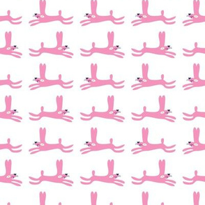 Woodland Collection_Rabbits_pink on white_Solvejg Makaretz