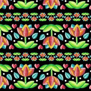 Bohemian Folkloric Embroidery Stripe