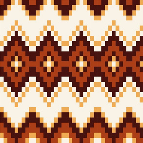 Autumn gold and brown pattern
