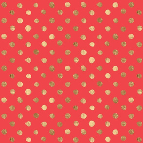 Gold Dot Bright Red