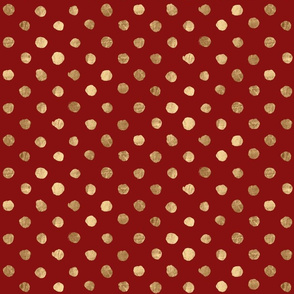 Gold Dot Deep Red