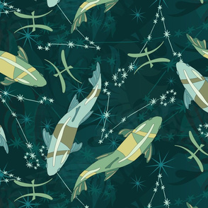 Pisces Tea Towel