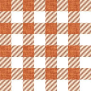 "1"" clay linen buffalo check"