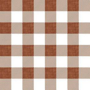 "1"" sable linen buffalo check"