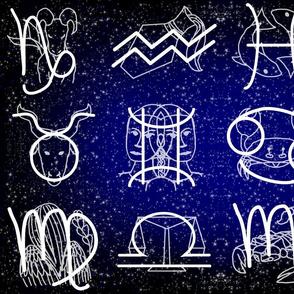 Zodiac Tea Towel