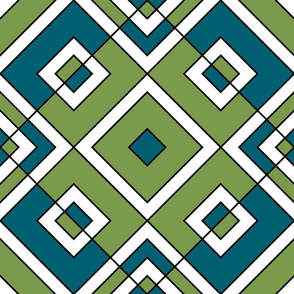 Geometric blue & green_018