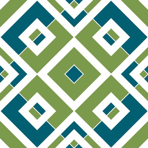 Geometric bleu & green_019