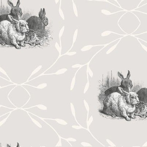 Countryside Silver Bunnys Large Scale