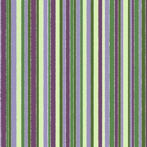 Striped Green and Purple - vertical