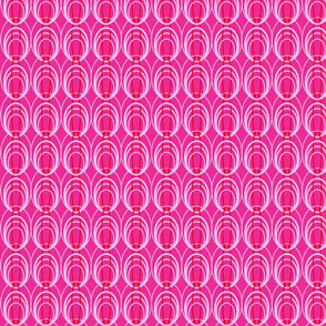 Circles of play hot pink med print