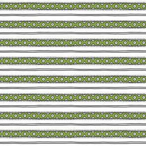 small - dots and lines in green