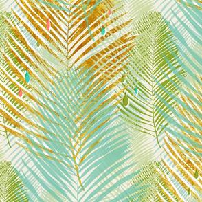 aqua gold palms