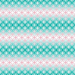 Pink Aqua Ombre Breeze Block
