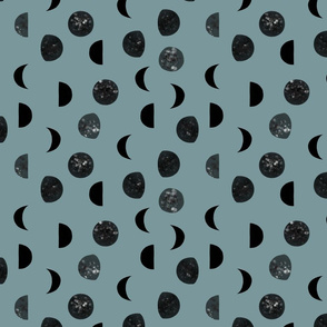 speckled black moon phases // colonial