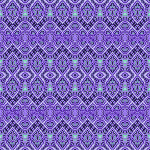 Purple Knight Damask