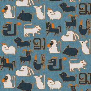 Chinese Zodiac Animals {Blue}